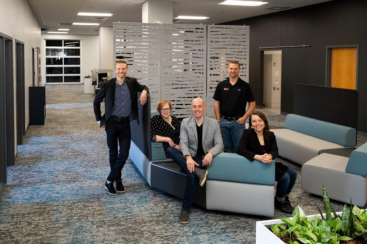 benjamin roberts team at client project site