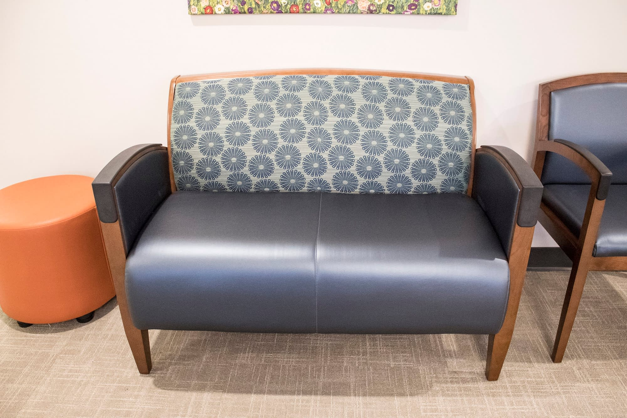 Love Seat in Waiting Room